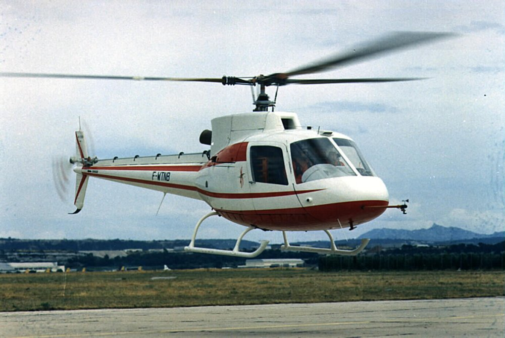 The SA350 Gazelle helicopter performed its maiden flight in 1974.