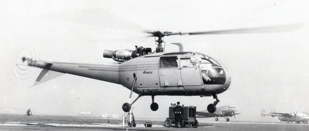 "The SA3160 ""Alouette III"" helicopter performed its maiden flight in 1959."