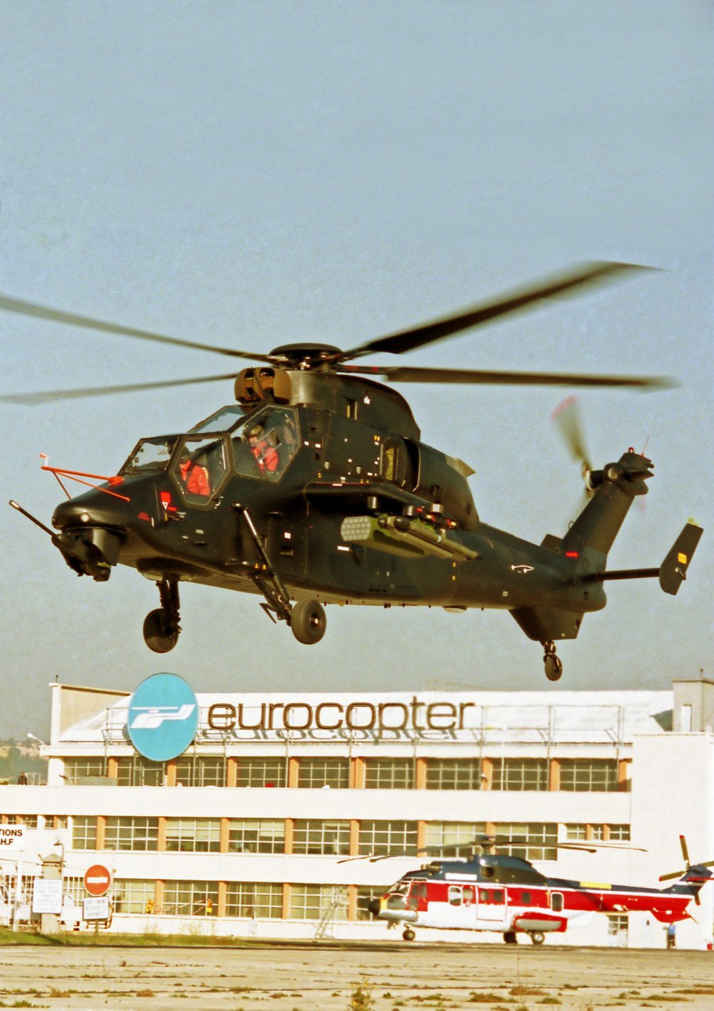 First flight of the fourth Tiger prototype in Marignane in 1994.