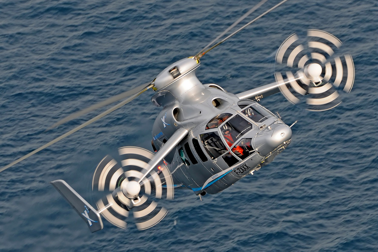The X3 high-speed hybrid helicopter demonstrator made its first flight in 2010.