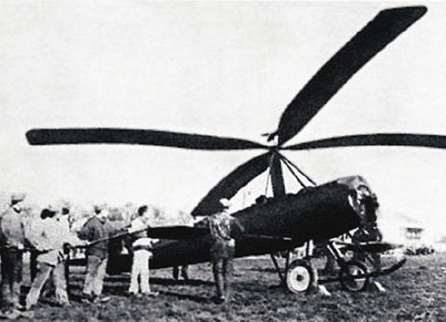 In 1922, the Spanish engineer Juan de La Cierva entered the final development stage of an autogyro: an airplane whose wings were replaced by a free-spinning rotor, entirely driven by the speed of the forward propeller.
