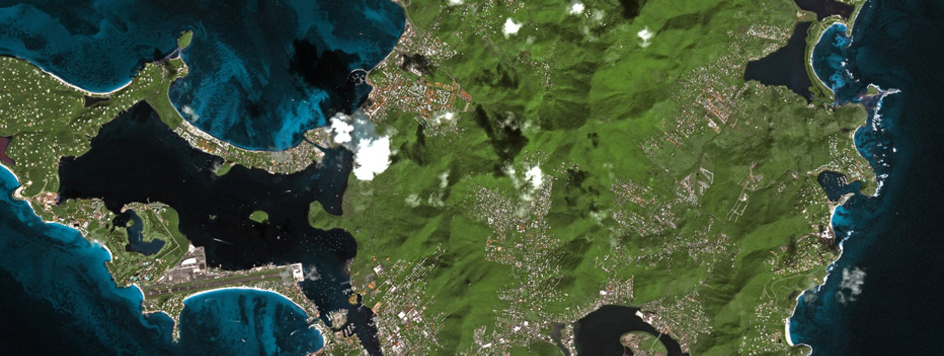 Satellite imagery provided by an Airbus-produced Earth observation spacecraft.