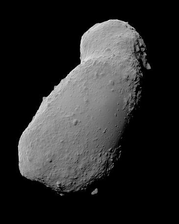 A view of the Itokawa asteroid