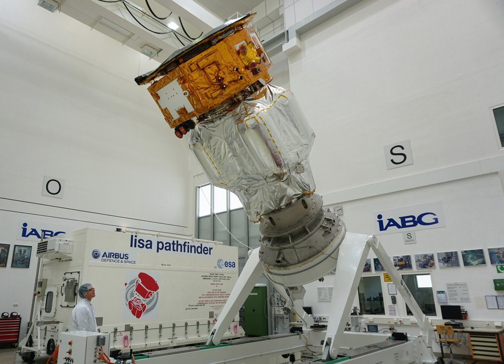 LISA Pathfinder, a European Space Agency mission for which Airbus Defence and Space UK is prime contractor, is integrated in a clean room setting ahead of its 2015 launch.