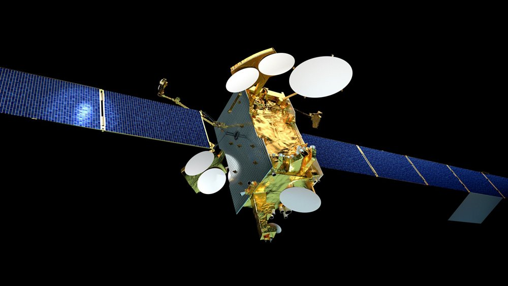 A representation of the SES-14 satellite produced by Airbus for the operator SES.