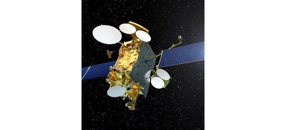 A representation of Airbus' Eurostar E3000 telecommunications satellite platform.