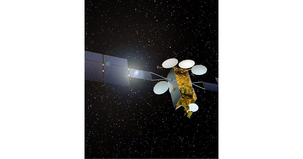 The Airbus-produced Eurostar Neo satellite platform is depicted in orbit.