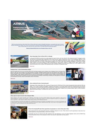 Airbus Parliamentary Newsletter - Summer 2019