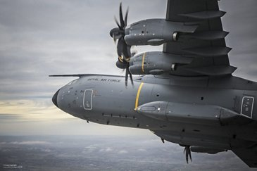 RAF A400M hills flypast