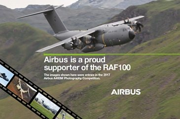 RAF100 Airbus support poster