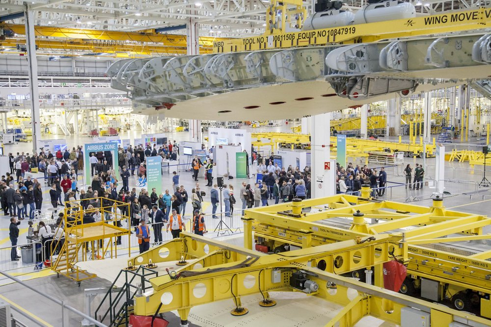 Airbus Apprentice open day at the A350 Factory in Broughton