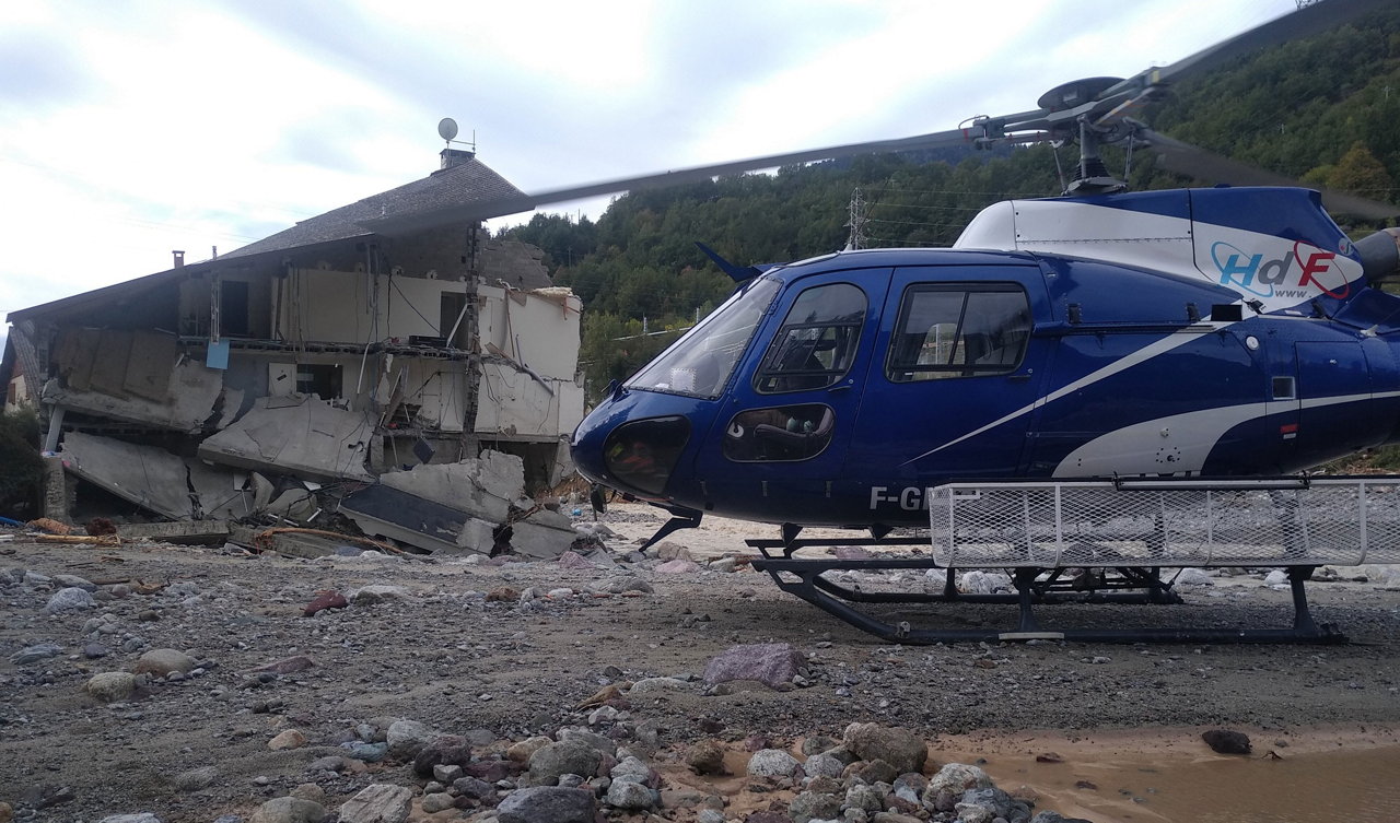 A fleet of helicopters – including this Airbus-built rotorcraft – were relied on to perform key missions in response to 2020's Storm Alex; activities involved the delivery of supplies, evacuation of wounded, search operations for missing persons and other duties.