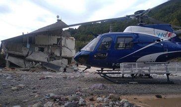 """直升机支持""""风暴亚历克斯""""的救援工作"""