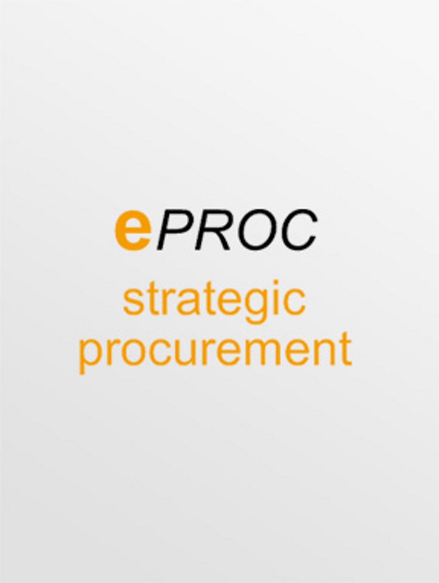 The procurement solution for sourcing and contract management