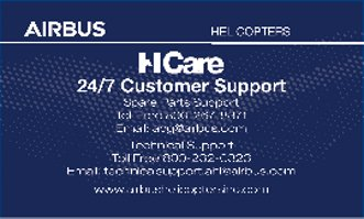 Customer Support Card - Front and Back