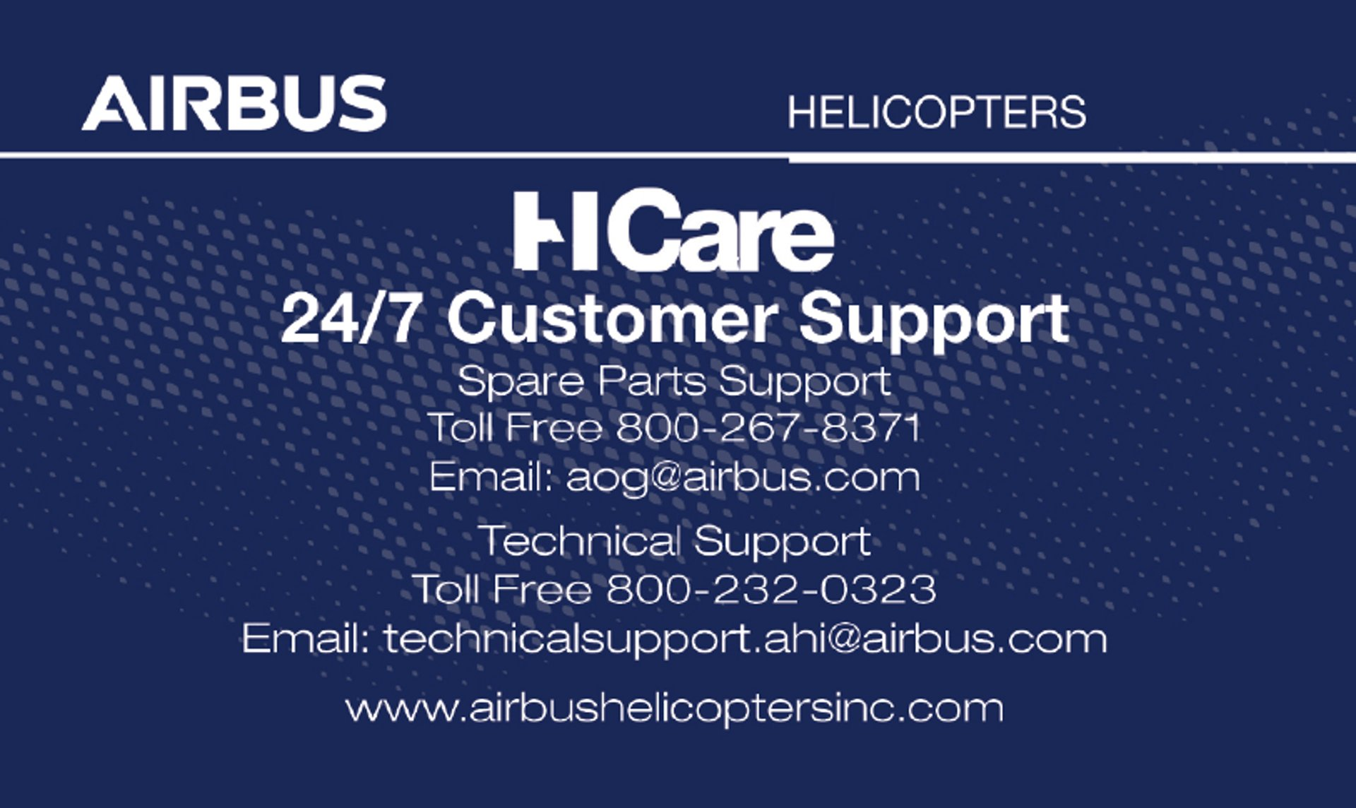 Customer Support Card