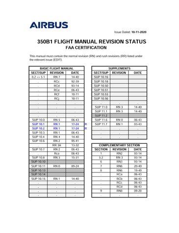 AS350 B1 FLM SRD