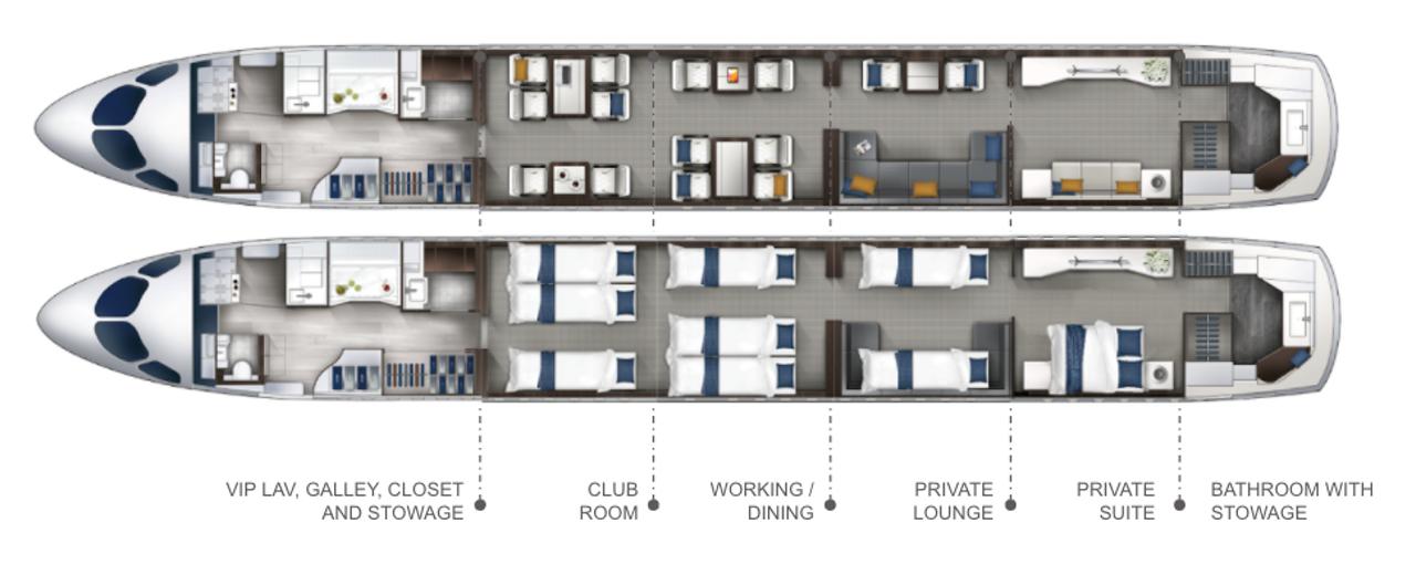 Corporate Cabin Layout