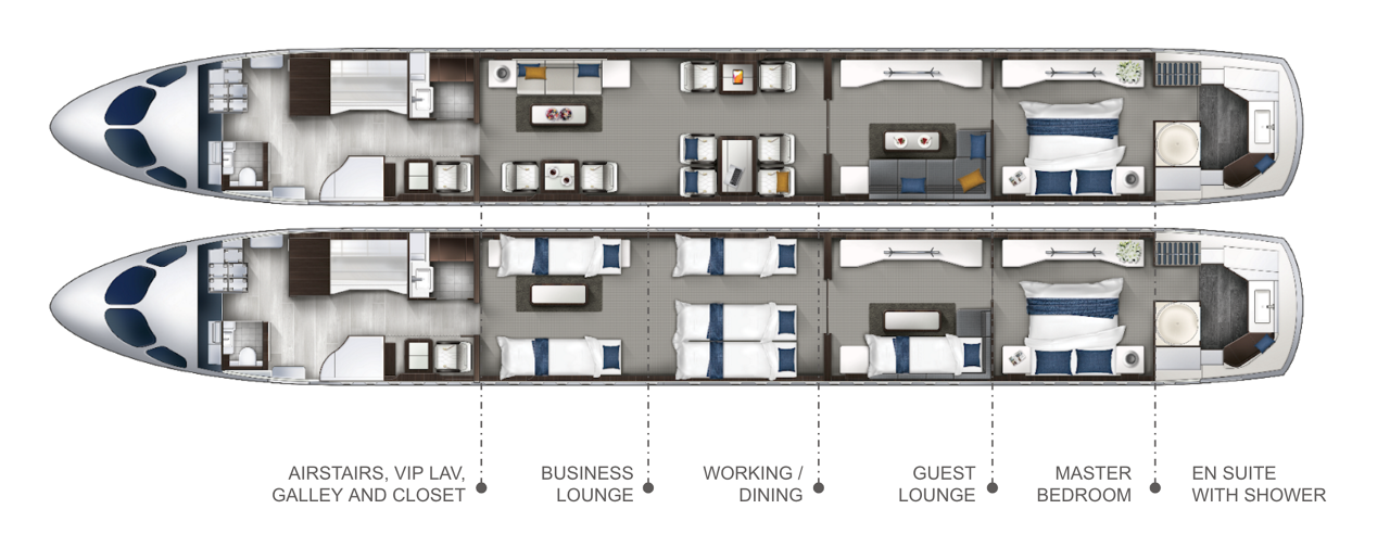 Exclusive Cabin Layout