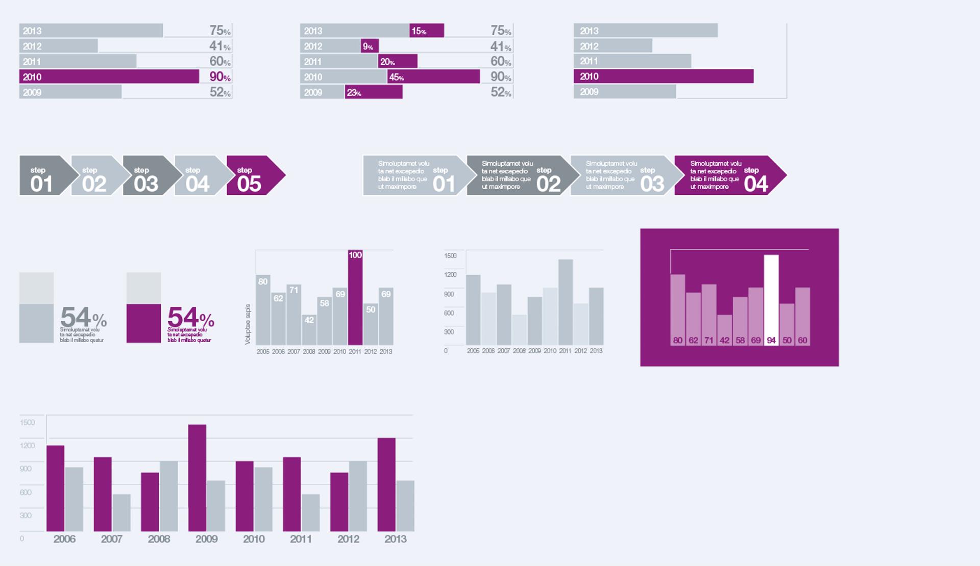 Bars And Columns Processes Flowcharts 01