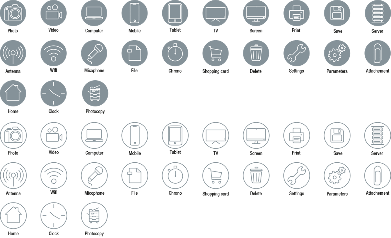 Icon Set Devices