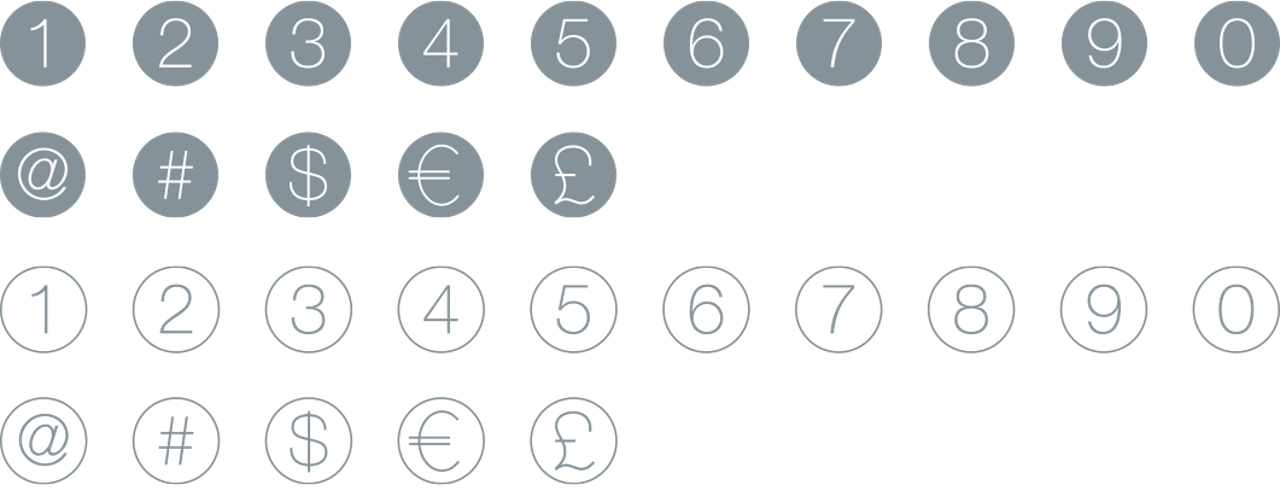 Icon Set Numbers