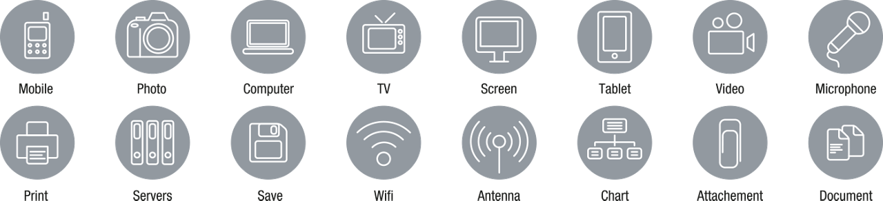 Icons Icon Set Flat Devices