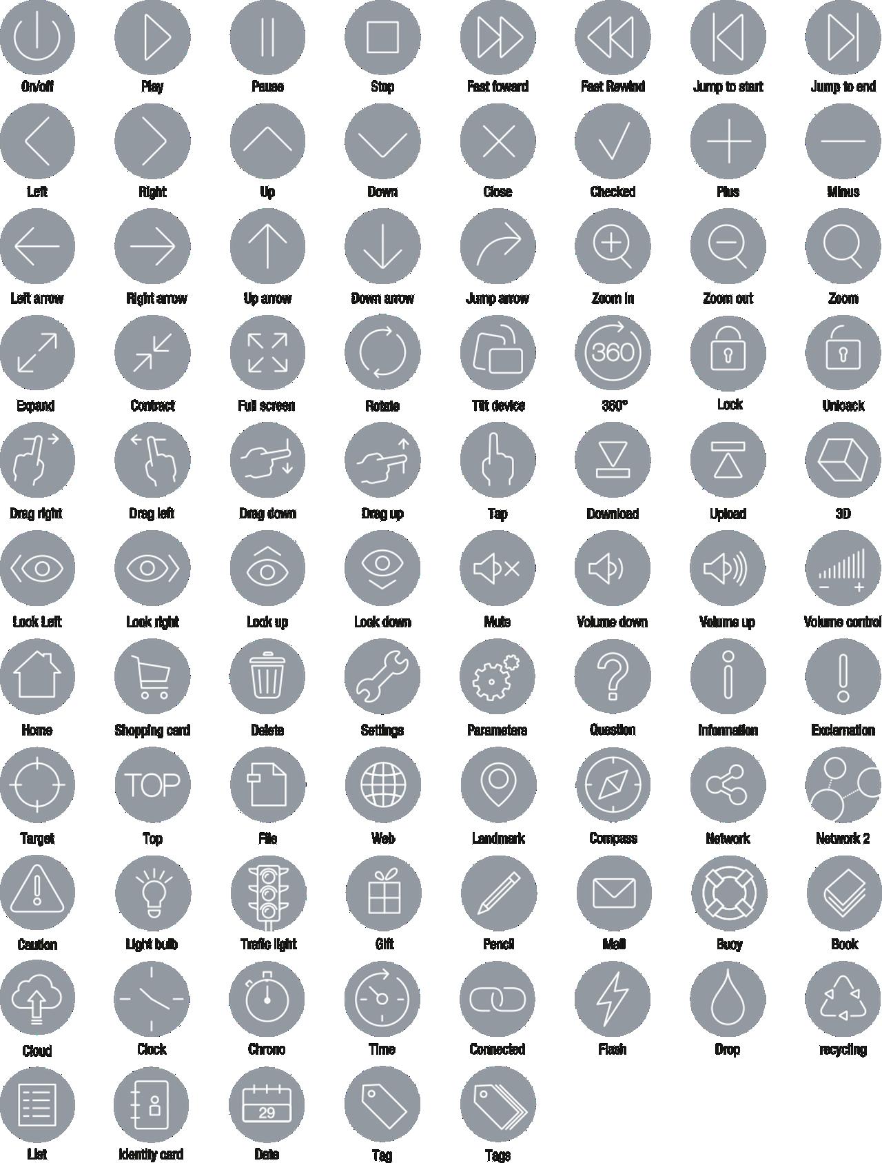 Icons Icon Set Flat Navigation