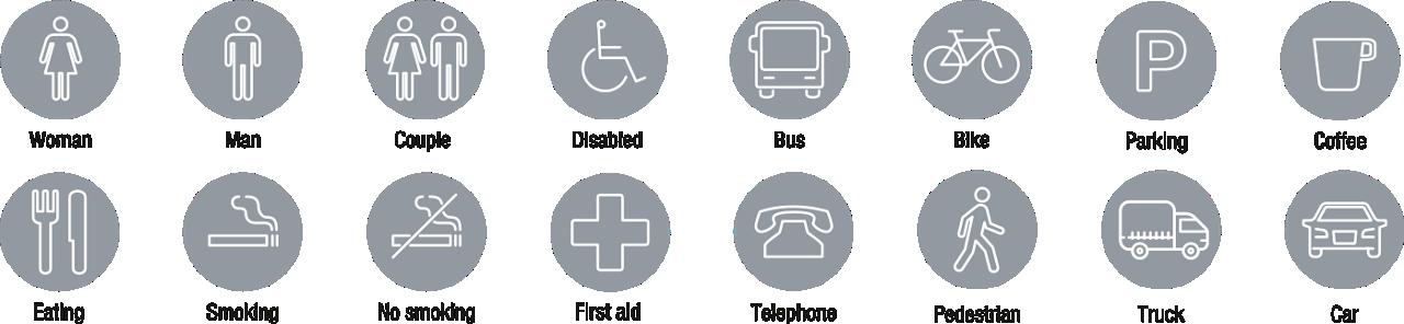 Icons Icon Set Flat Signagewayfinding