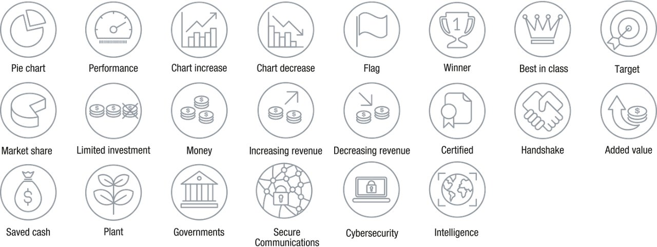 Icons Icon Set Outline Business
