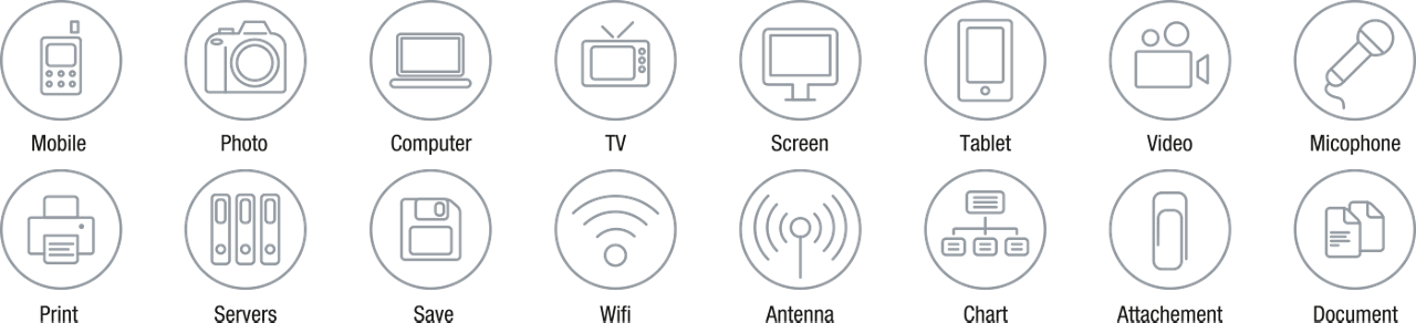Icons Icon Set Outline Devices