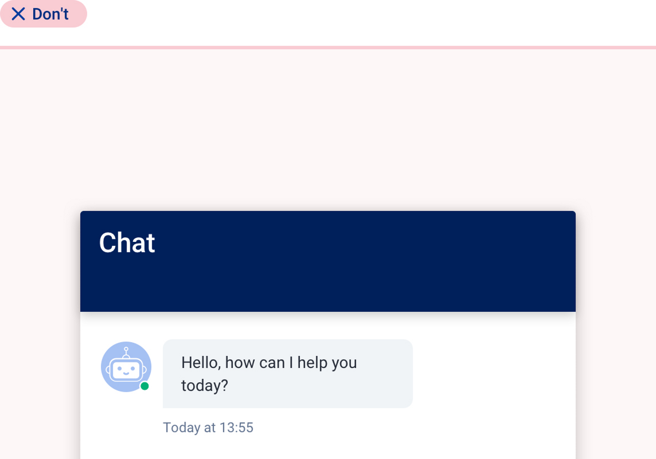 Bad practice about the use of the chat.