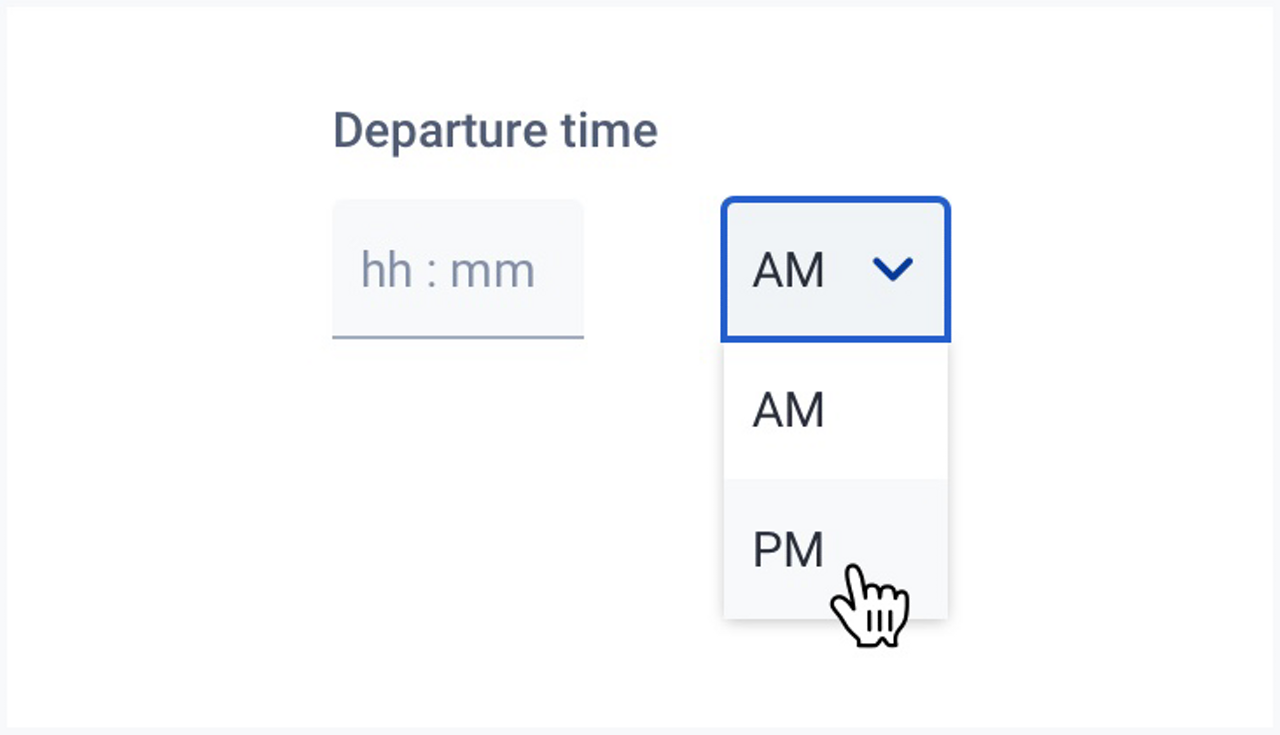 You can see a hour date picker.