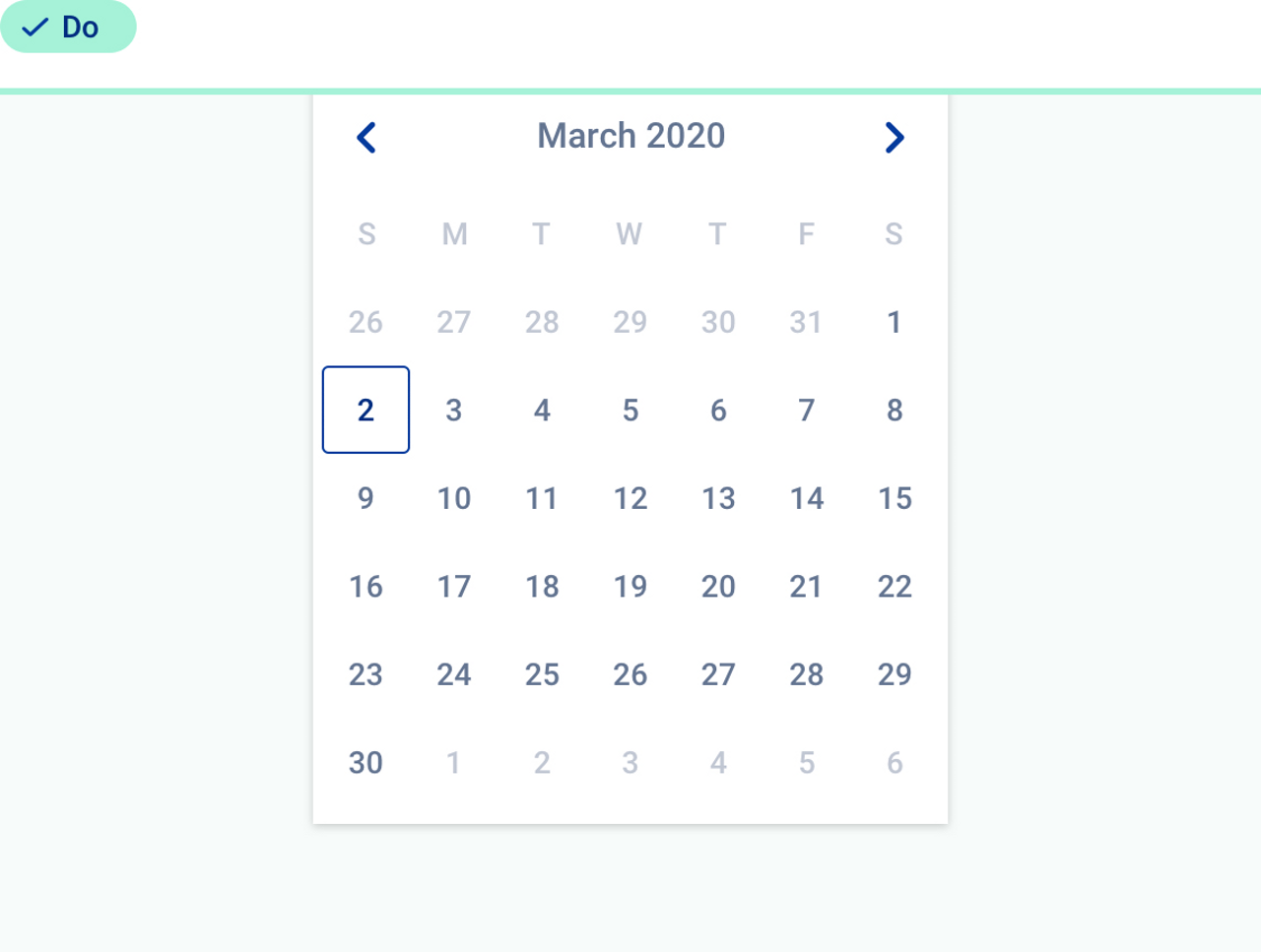 Good practice about the use of  datepicker.