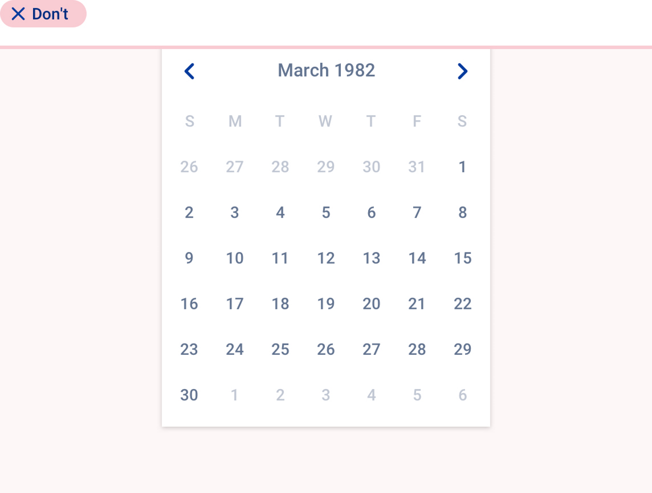 Bad practice about the use of  datepicker.