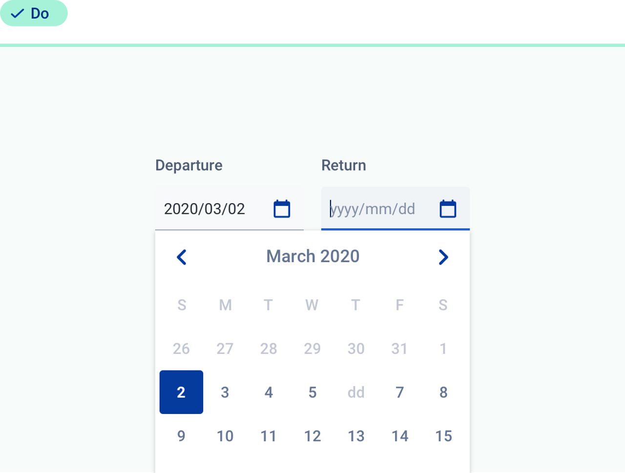 Good practice about the use of  date time picker.