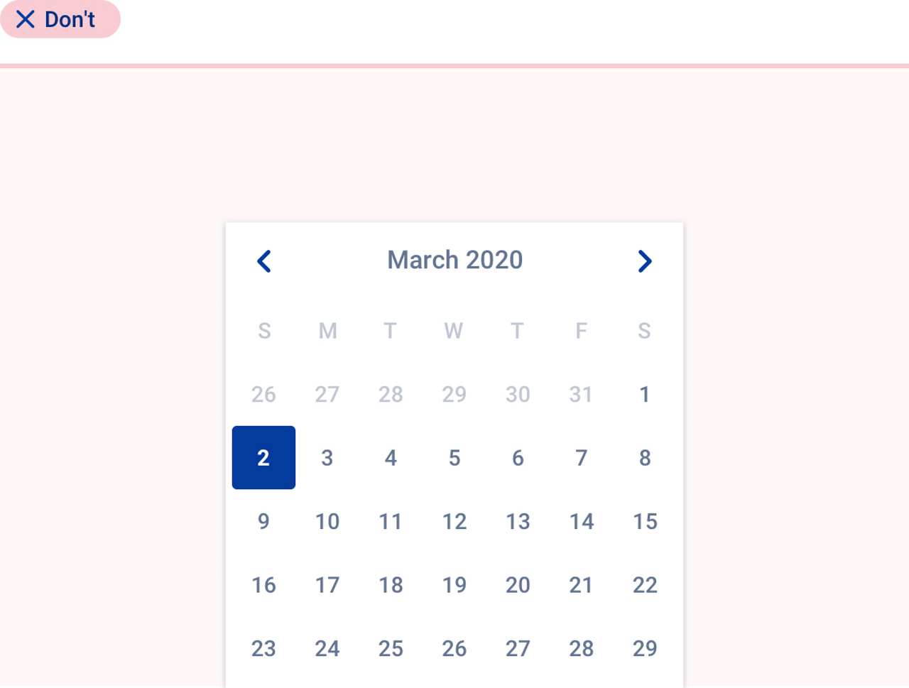 Bad practice about the use of  date time picker.