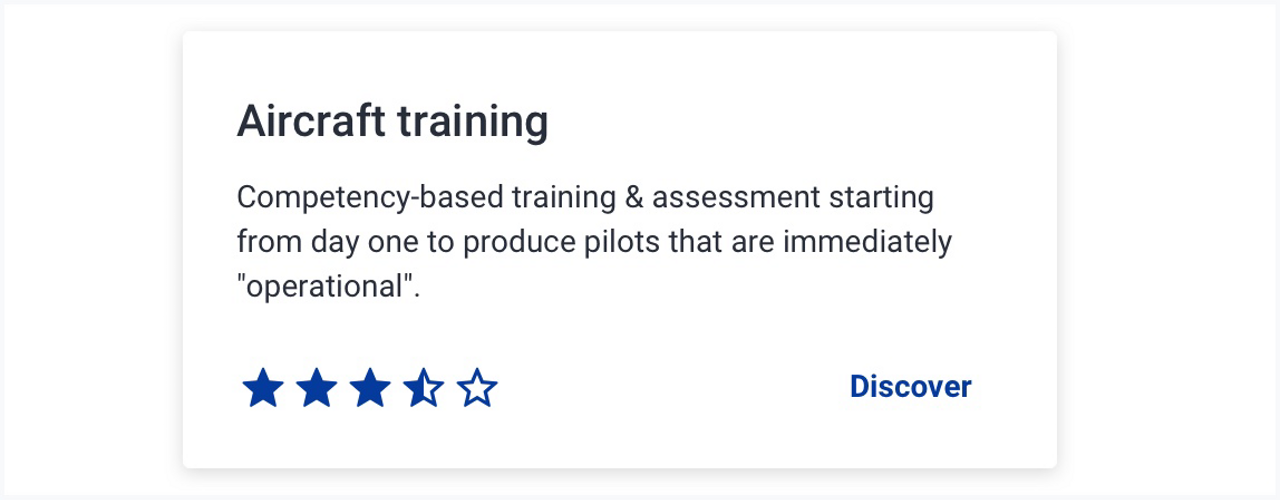 The picture shows a card with stars evaluating a training.