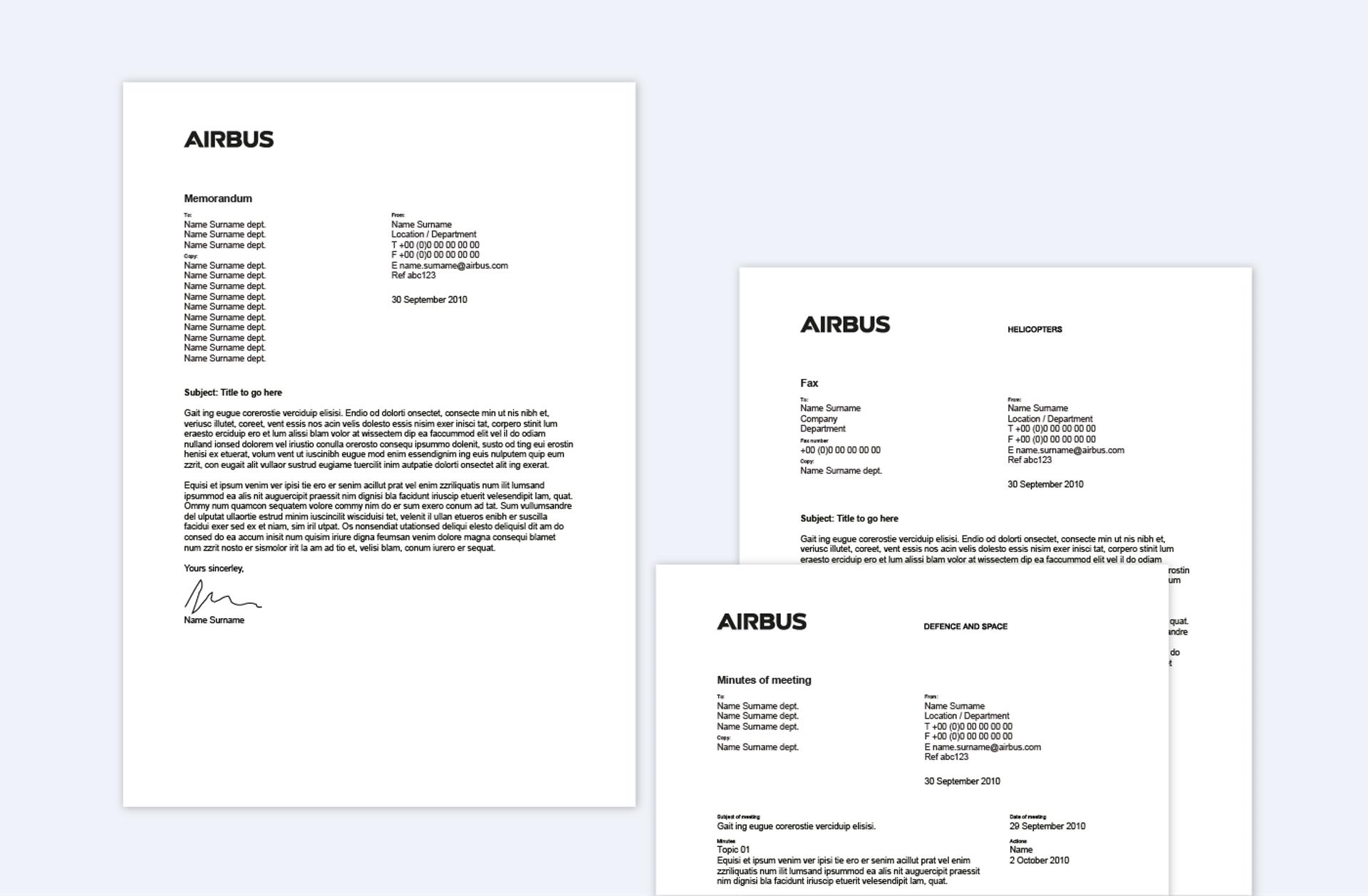 Memo Fax Minutes