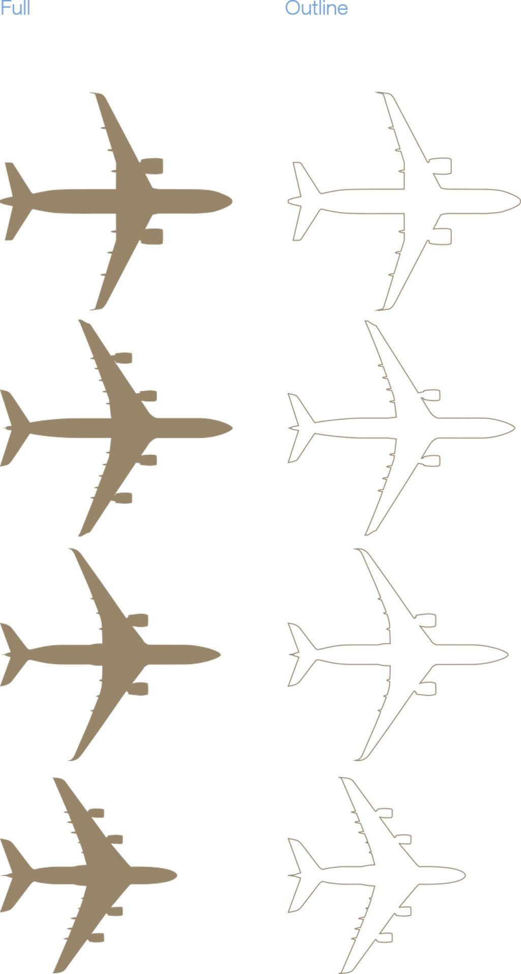 Acj Ach Aircraft Silhouettes