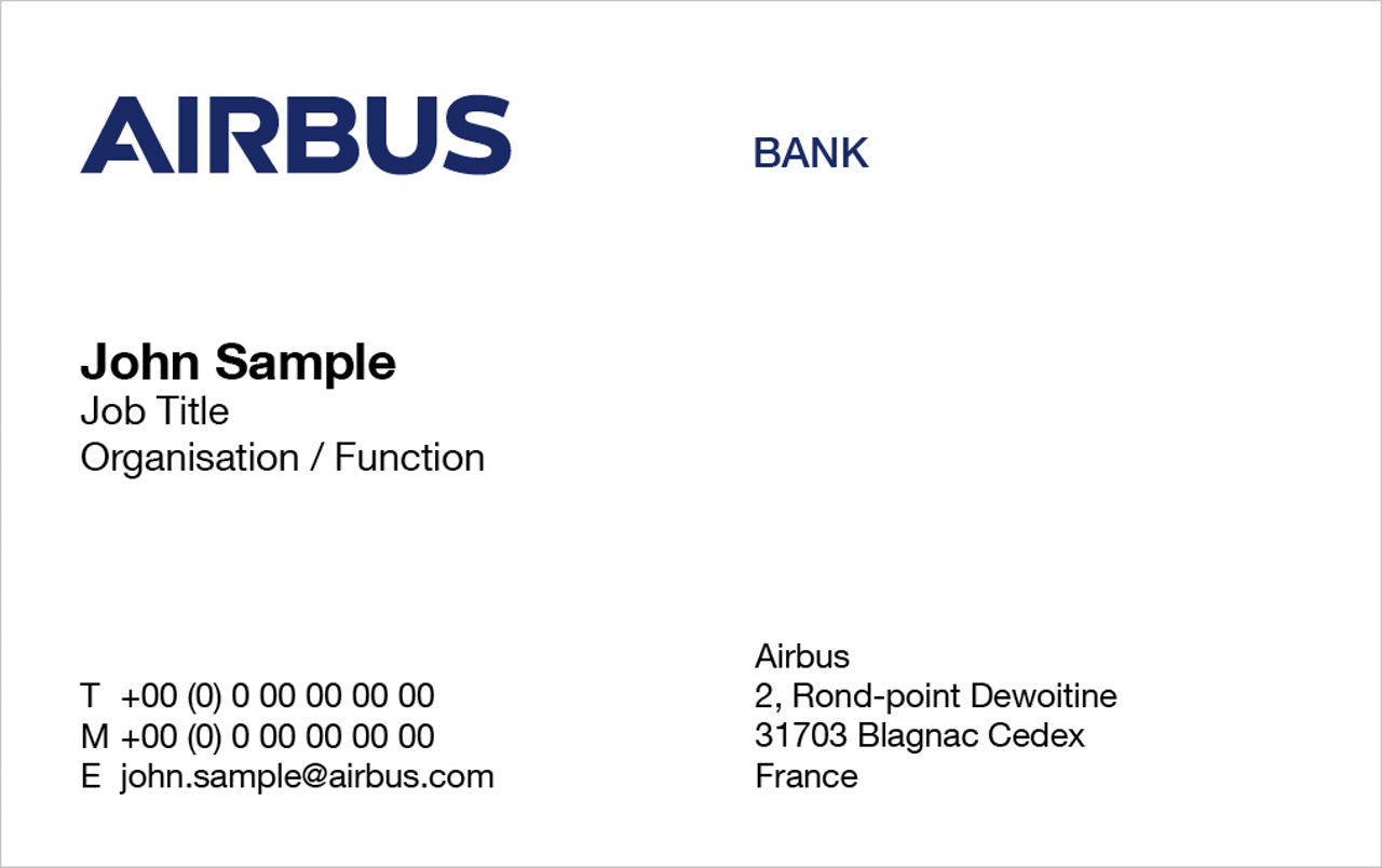 Airbus Bank Business Card 1
