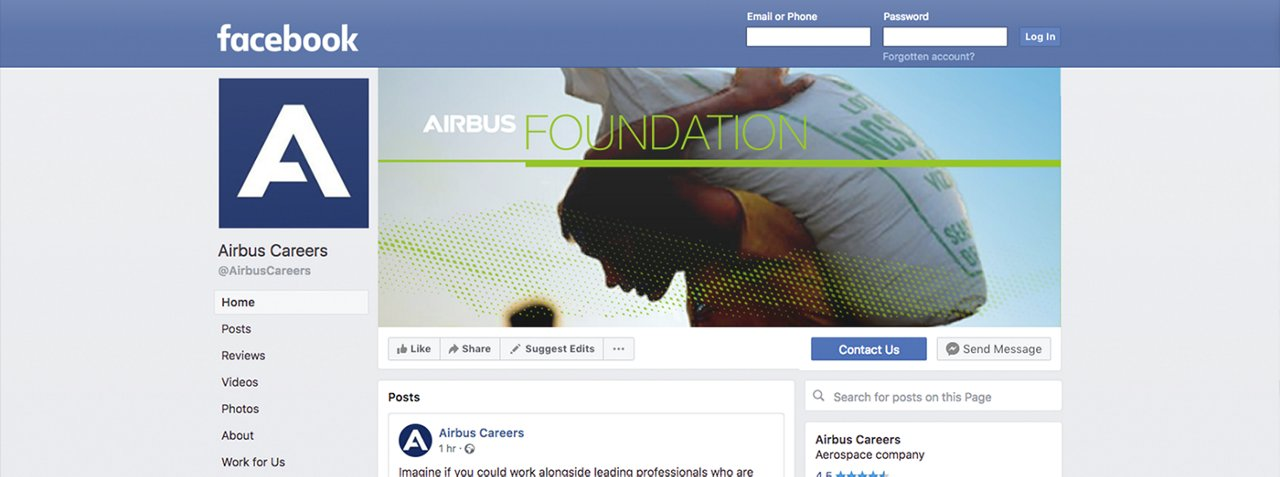 Airbus Foundation Socialmedia Facebook