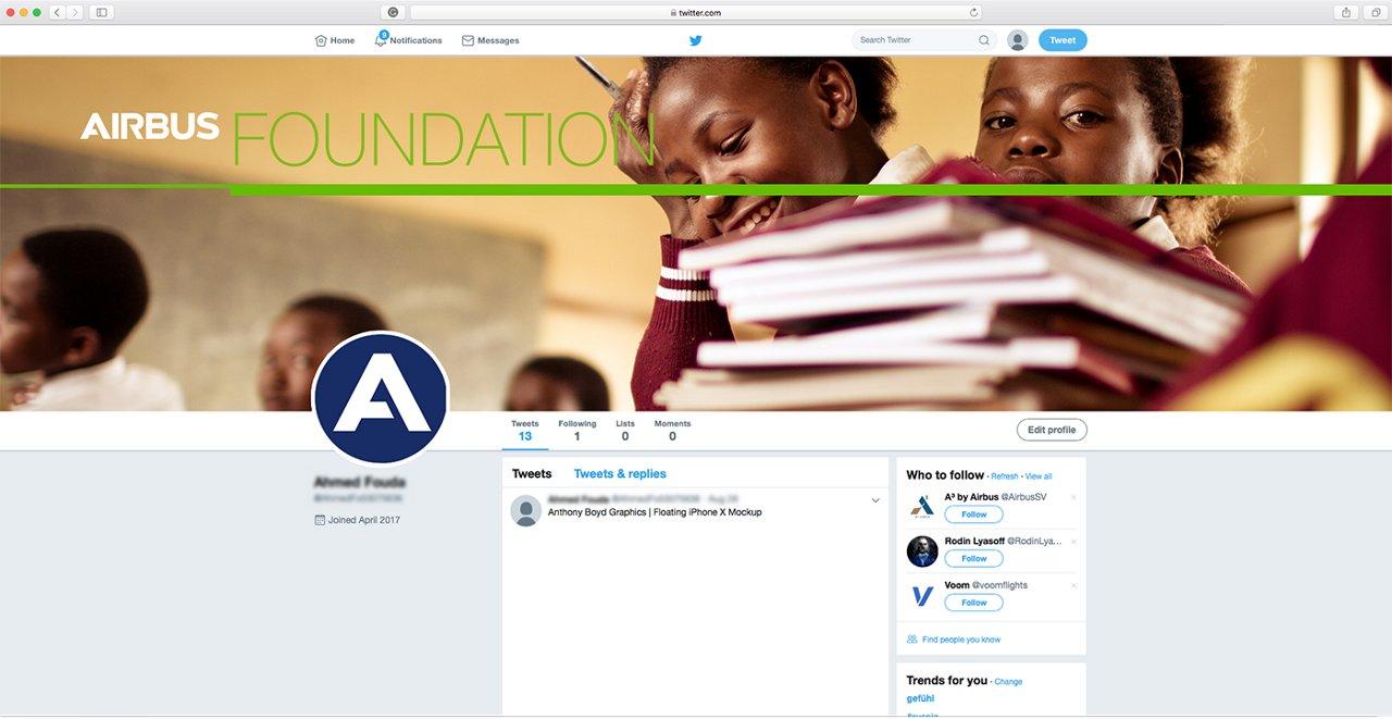 Airbus Foundation Socialmedia Twitter