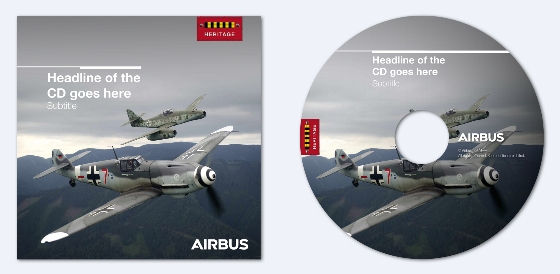 Airbus Heritage Cd With Cover