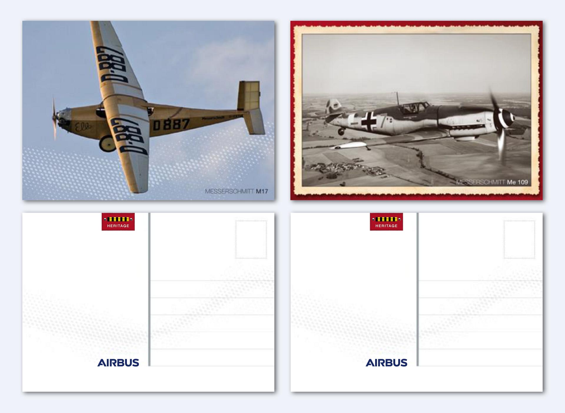 Airbus Heritage Postcards