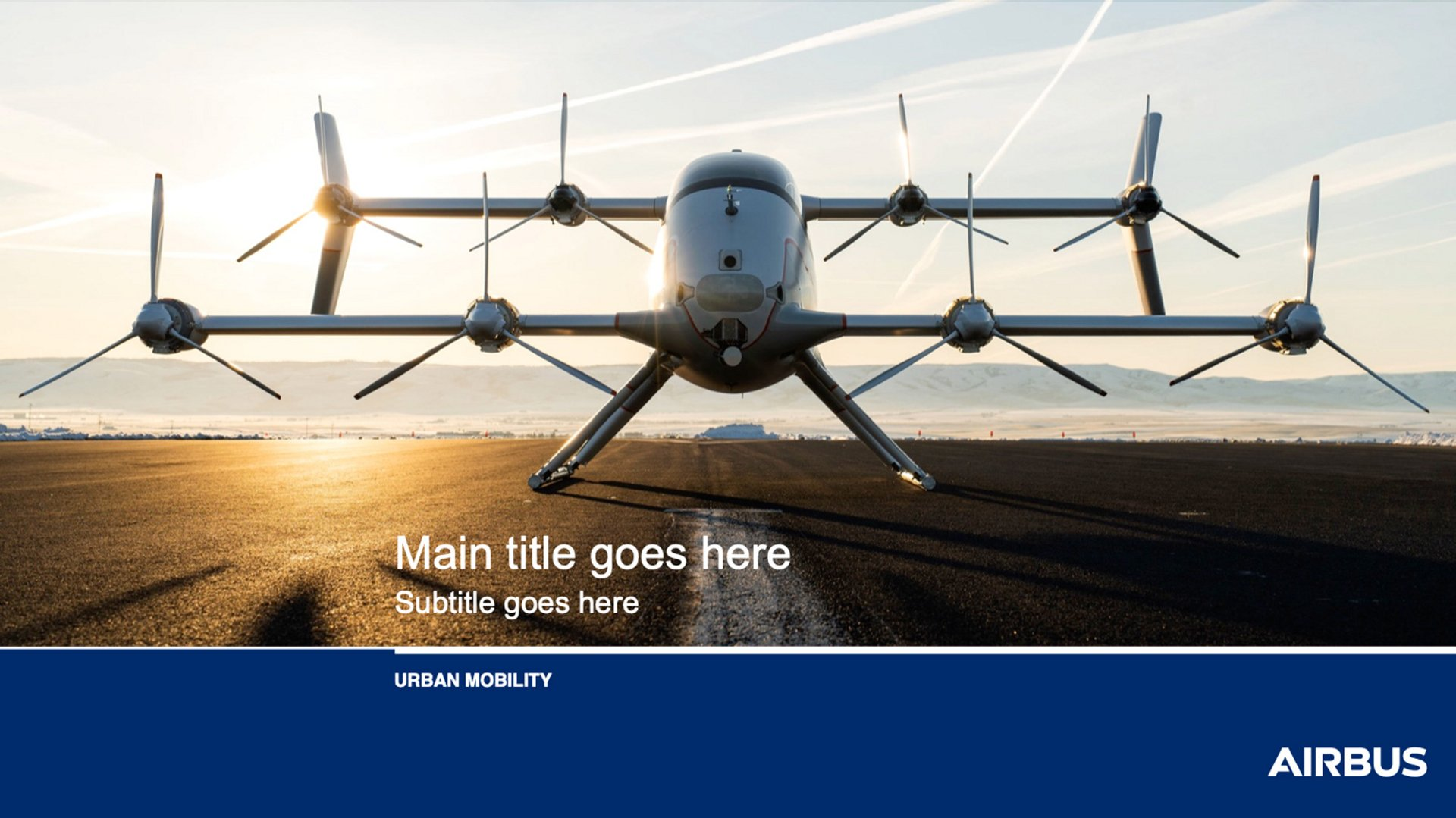 Airbus Urban Mobility PPT Template 2