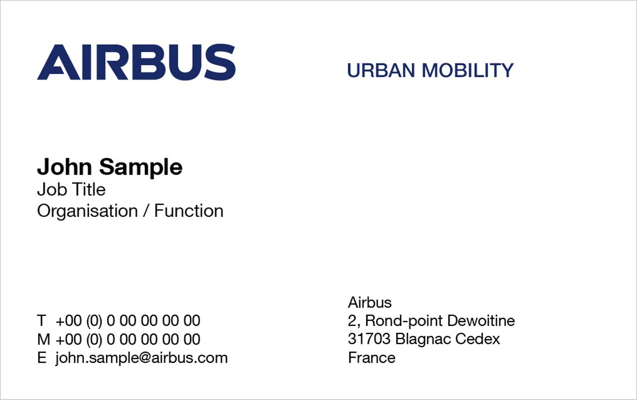Airbus Urban Mobility Business Card