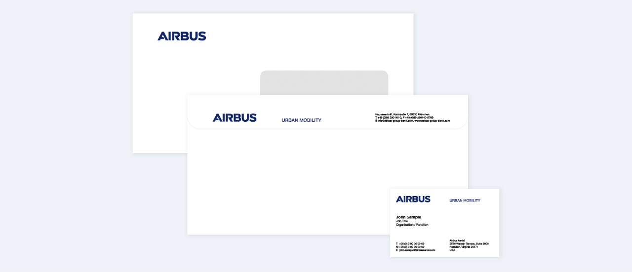 Airbus Urban Mobility Envelope Business Card
