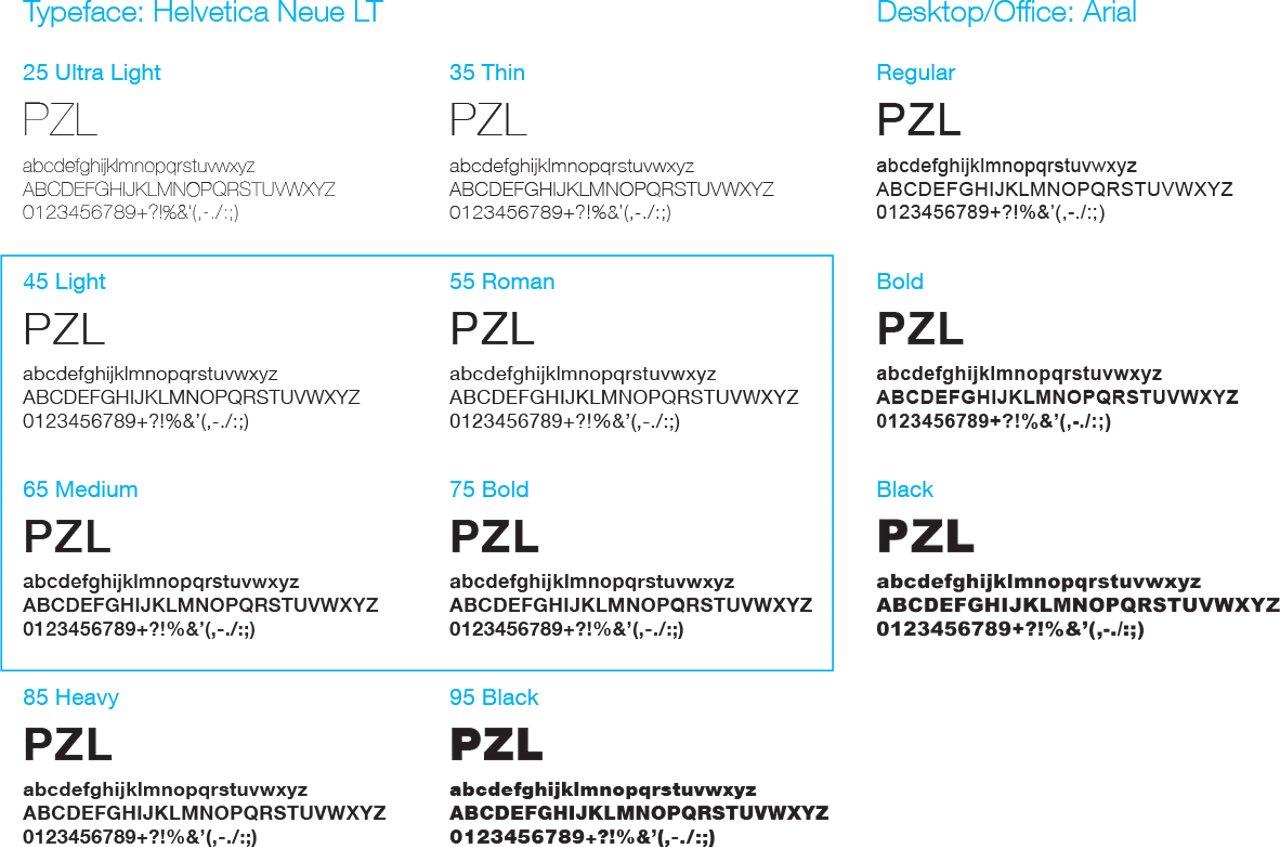 Pzl Typeface