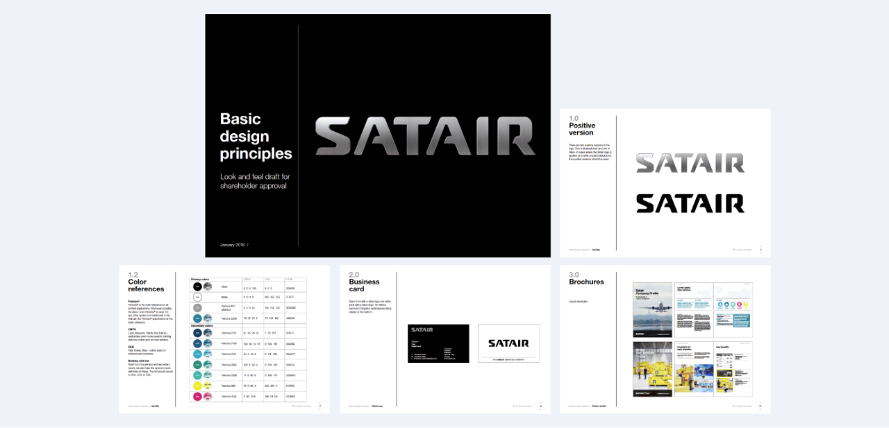 Satair principles shows the guidelines for the subbrand Satair